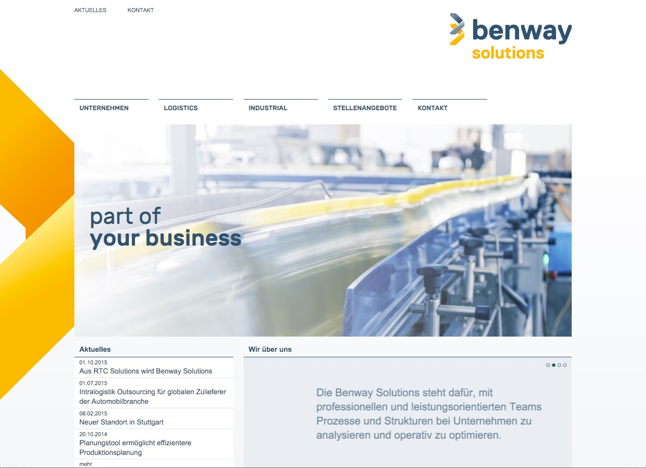 Logistik-Outsourcing & Industrial-Outsourcing bei der Benway Solutions GmbH